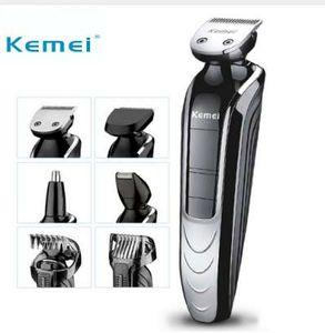Kemei KM-1832 5 en 1 máquina de afeitar eléctrica recargable a prueba de agua Nueva cortadora eléctrica de pelo Clipper nariz Hair Trimmer Hairclipper