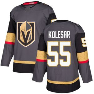 2018 Coupe Stanley Vegas Golden Knights Keegan Kolesar Hockey Maillots Hommes Cousu 55 Keegan Kolesar Jersey Personnaliser Accueil Maillots