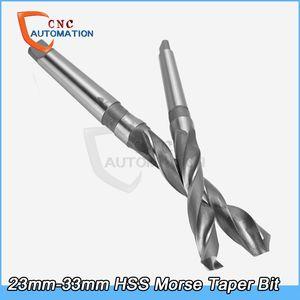 HSS 트위스트 고속 강철 드릴 비트 세트 23mm-33mm 모스 테이퍼 품질 도매상의 드릴 비트를 최저 가격 HRC63 드릴링 도구 비트