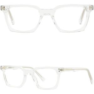Kleine schmale Jungen Mädchen Womens Clear Acetate Frames Square Glasses Spring Hinges