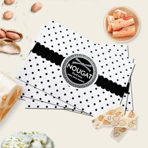 Güzel 500 adet / takım 12.5 * 9 cm İnek Nougat Ambalaj Kağıt Düğün Şeker Çanta Ambalaj Kağıt Sarmalayıcılar Food Grade Yağ ...