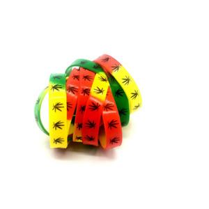 Nueva venta al por mayor 100 unids letras de impresión elástica pulsera de silicona goma de silicona de elasticidad pulsera pulsera banda brazalete brazaletes