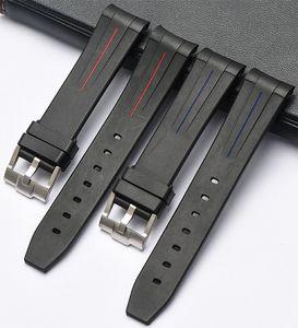 EACHE Nouveau caoutchouc de silicone du bracelet montre étanche montre sangles bracelet 20mm 21mm