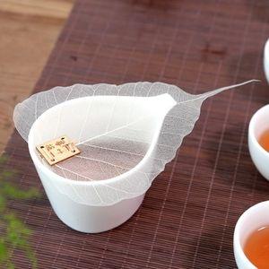 1pcs Pure Tea Leaf Bodhi Filtro personalidad creativa Estética Marcadores adorno ahueca hacia fuera las hojas de la personalidad Filtrar las ventas calientes