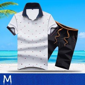 Aismz Eşofman Erkekler Yaz En Kısa Seti Erkek Moda 2 adet tişört şort Moletom Masculino Sportsuits Seti Takımları