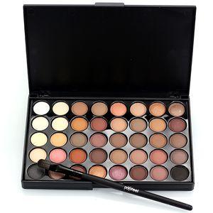 Professionale 40 colori Colore caldo Pigmenti Make Up Ombretto Glitter Matte Waterproof Ombretto Nudo Palette con pennello