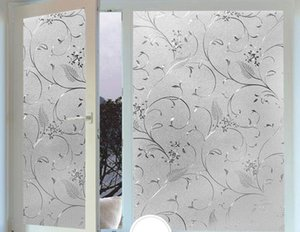 Pegatina de vidrio electrostático luz de la ventana transparente opaco baño sombra protector solar vidrio Celofán papel de pared Envío Gratis