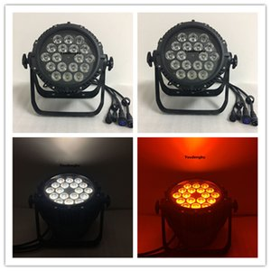 4 조각 18x12w rgbw 4in1 led 파 64 led par cans ip65 파 led rgbw 4in1