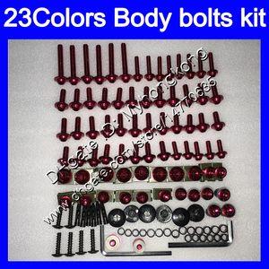 Pernos de carenado Kit de tornillo completo para Suzuki TL1000R 98 99 00 01 02 03 TL1000 R 1998 1999 2000 2002 2003 Tornillos de tuercas corporales Tuercas Nuez Kit 25 Colores