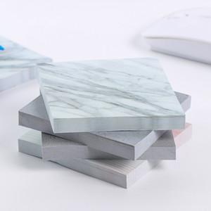 MINI 포터블 메모장 대리석 스티커 메모 메모 메모지 Sticky Notepads 학교 사무실 홈 노트 공급