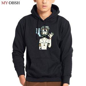 MYDBSH Brand Men Hoodies Smoking Printed Sweatshirts Mens Hoodie With Hat Hoody Big Pocket Hip Hop Hooded Hood Pullover Male Top