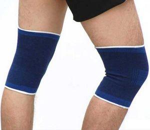 1 paio di sport all'aria aperta atletico supporto del ginocchio elastico pad di sicurezza brace compressione manica fasciatura avvolgere gomito ginocchiere ginocchiera arrampicata all'aperto