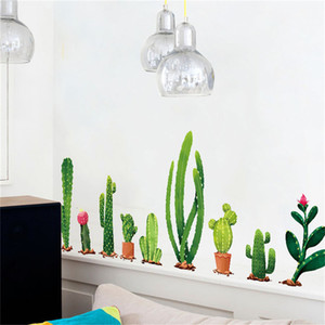 1 PCS DIY Cactus amovible Sticker mural Sticker Mural Maison Art Home Decor 90 * 60 cm Avion Autocollant Mural
