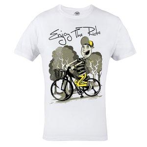 """La camiseta """"Enjoy The Ride"""" es ideal para el uso de la bicicleta Raicing Informal 100% algodón, manga corta, camiseta de verano, camisetas para hombres"""