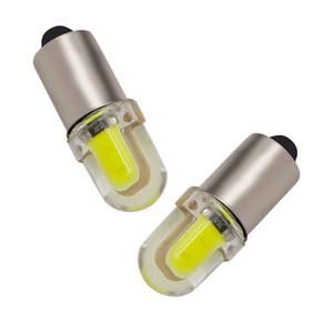 10pcs BA9S T4W 363 1895 233 super brillant ronde 3D COB LED plaque de voiture blanche plaque blanche ampoule auto lampe feu de position DC 12V