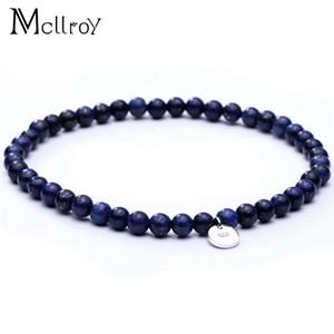 Mcllroy Charm Bangle & Bracelet Multistyle Natural stone  bracelet Lapis Lazuli Woman Man pulseras para hombre