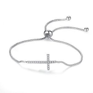Кристиан кубический циркон CZ кластер крест распятие регулируемая коробка цепочки браслеты браслеты мода женские украшения для партии