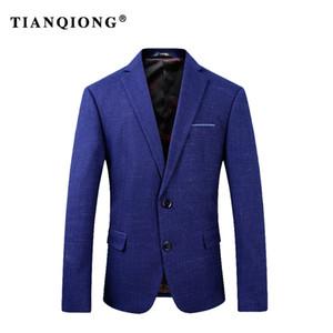 TIAN QIONG 2018 New Arrivel Classic Blue Suit Jacket Hombres S-3XL Hombres Trajes Winter Coat Caliente lana gruesa Blazer Mens Blazers