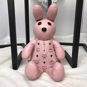 4-color sırt çantası küçük tavşan maskot bebek sırt çantası bebek çocuk sırt çantası el çantası kaplı tuval baskı