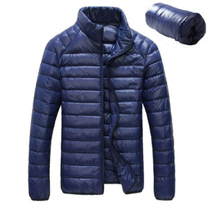 2017 Nuevo Otoño Invierno Duck Downs Chaqueta Hombres ultraligeros Casual Feather Coat Impermeable Ligero Downs Parkas Hombres Outwear 3XL