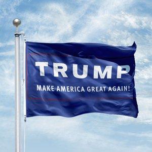 Impression numérique de vente chaude et 3 x 5 pi 100D Polyester Trump Flags personnalisés avec deux oeillets en métal