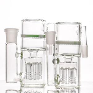 8 arms Ash Catcher Design moderno branco coletores de cinzas do favo de mel para a água bong vidro bong 14-14mm e 18-18mm