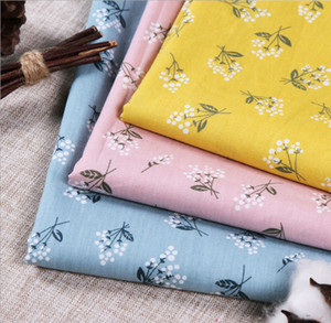 Plain small floral woven printed fabric. Cotton fabric for bedding and children's dresses