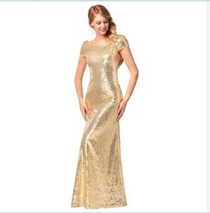Wholesale free shipping Floor Length Ever Pretty Back Cowl Neck Shine Gold Sequin Sparkle Elegant Women Evening Party Dress