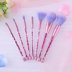 7 pcs marque les pinceaux de maquillage professionnel brosse cosmétiques avec la nature Contour poudre cosmétiques pinceau de maquillage Livraison gratuite