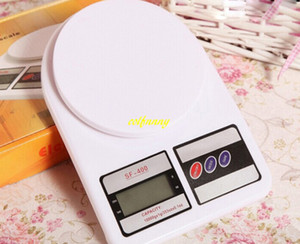 20pcs / lot 1kg / 0.1g 5kg 7kg 10kg / 1g Digital LCD Cocina Balanzas electrónicas Dieta de alimentos para el hogar Balanza postal Peso equilibrio