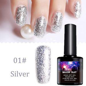 2 Colors Gold and Silver Glitter Nail Polish 10ml Mirror Effect Shiny Nail shop dedicated phototherapy