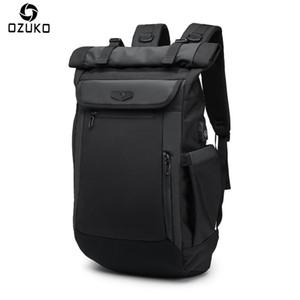 Los nuevos hombres Mochila para portátil de carga USB multifunción mochilas para el adolescente Moda Mochila impermeable viaje Malé