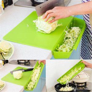 Kesme bloğu 2 in 1 pratik pinksolor bulaşık yuvası ile ekonomik doğrama blokları plastik kaymaz tahta mutfak aletleri 18hj y z