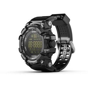 새로운 스포츠 스마트 시계 부저 소리 알람 스포츠 모니터 IP67 방수 구운 칼로리 남자 시계 원격 카메라 시계 EX16
