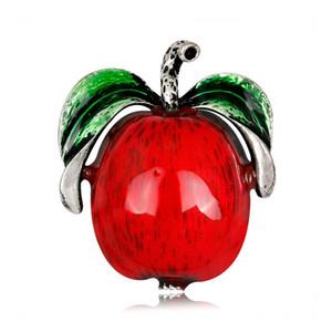 Commercio all'ingrosso Pin regalo variopinti Red Apple Spille mela verde Cartoon Pins Spille Pins Gioielli per i trasporti navali donne degli uomini libero