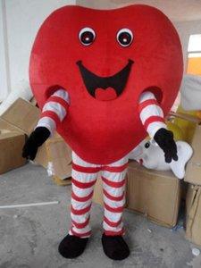 Love-Heart التميمة ازياء موضوع الرسوم المتحركة القلب الأحمر Cospaly الكرتون التميمة شخصية هالوين كرنفال حزب حلي