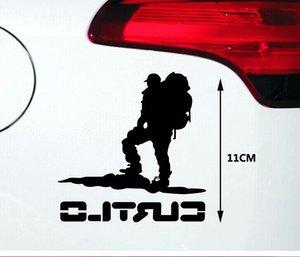 11 CM mountaineer caminhadas reflexivo adesivo de vinil cor carro laptop cabine de vidro etiqueta CA-183