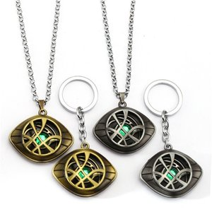 Avengers: War Infinity Doctor Strange Collier Crystal Eye de Agamotto Colliers Pendentif Accessoires de mode Bijoux cadeaux
