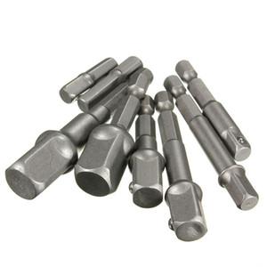 "Freeshipping 8Pcs / lot Chrome Vanadium Steel Socket Adapter Power Set Destornillador de aire hexagonal caña a 1/4 ""3/8"" 1/2 ""Brocas de extensión"