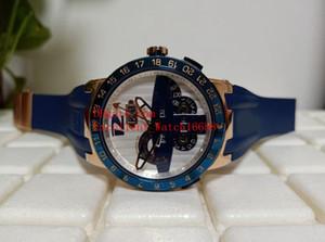 Горячие продажи модные часы 43 мм 326-00 18K розовое золото автоматический механический EL TORO вечный календарь GMT многофункциональные резиновые ремень мужские