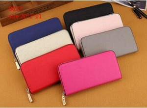 Hot! wholesale famous brand fashion single zipper cheap luxury designer women pu wallet lady ladies long purse