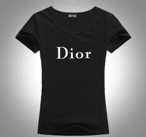 di trasporto della nuova Luxuryt Designers T-shirt per le donne banda ms camicia poloshirt di modo della stampa delle donne T-shirt Dior
