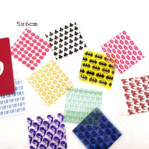 100pcs التي / حزمة سميكة مجوهرات حقائب فضفاضات لتخزين Reclosable البلاستيكية بولي أكياس نمط ملون