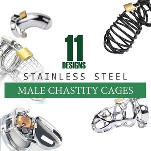 Device CB Chastity Chastity # Y98 CHASTETÉ CAGE CAGE BONDAGE DE AÇO DESIGN 11 CORREIO KRAHI