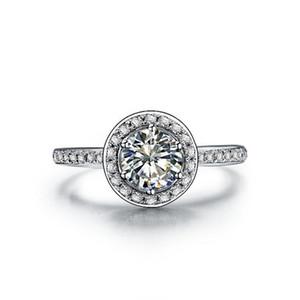 2017 Nouveau T Marque 3CT SONA Synthétique Diamant Anneau Pour Les Femmes 925 Sterling Argent Fiançailles Bijoux Plaqué De Platine De Mariage Anneaux