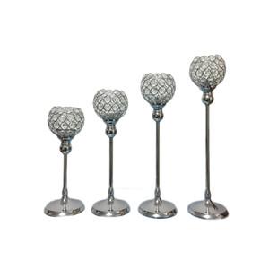Unique bougeoir k9 cristaux argent plaqué mariage candélabre / centre de table centre de table décoration bougeoir