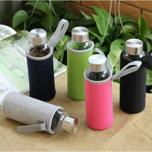 Luluhut Voyage drinkware Bouteille portable nouveau design de bouteille d'eau en verre Bouteille transparente pour le thé de l'eau