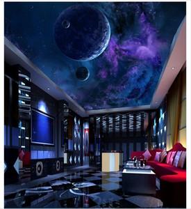 3d обои пользовательские фото 3D потолок фреска обои мечта звезда небо Планета потолок фреска стены комнаты гостиная фрески обои home decor