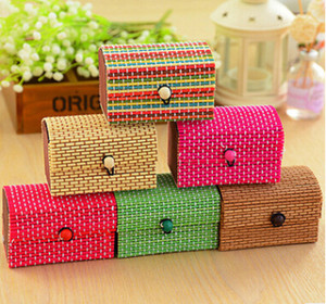 Earring Ring Organizer Jewelry Storage Box Fashion Necklace Bracelet Display Container Creative Bamboo Wooden Sundries Case