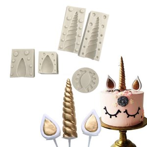 Birthday Unicorn Animalsl Silicone Mold Fondant Mould Cake Decorating Tools Chocolate, Gumpaste, Sugarcraft, Kitchen Accessories